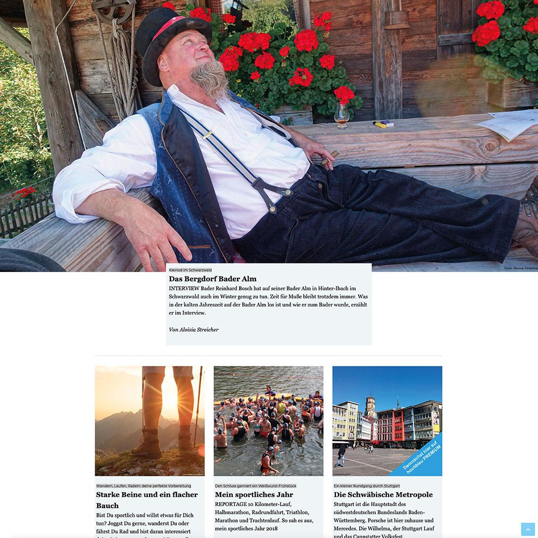 hochblau PREMIUM Schnupper-Abo 3 Monate inklusive digitales Magazin