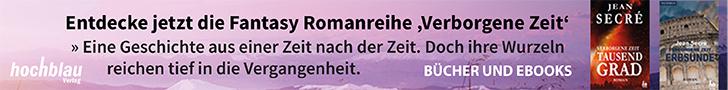 Werbebanner Romanreihe VERBORGENE ZEIT
