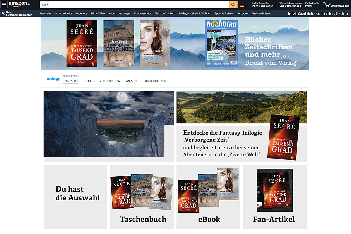 Entdecke unseren neuen Amazon Marken-Store unter www.amazon.de/hochblau
